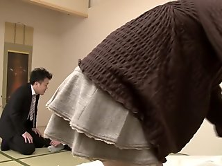 Hottest Japanese girl in Amazing Blowjob, Mature JAV movie