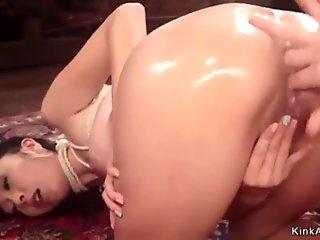 lesbian in fishnet anal fuck asian girl