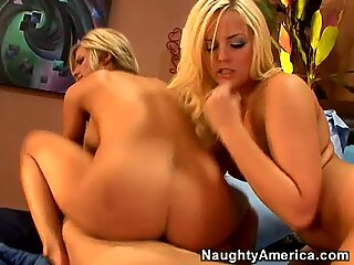 Busty chicks Alexis Texas & Kendall Brooks play and fuck one dick