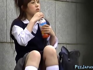 Urinating japanese ho