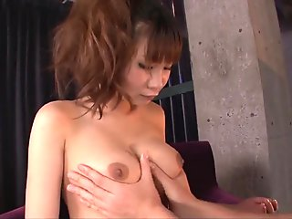 Busty Natsuki Shino gets a big Asian cock to play with - More at javhd.net
