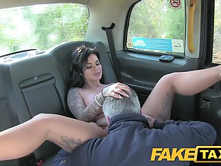fake cab Adult channel tv hottie gets rod