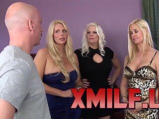 WANKZ- Platinum Blond Trio of Cougars by XMILF.US