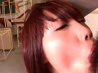 Naughty schoolgirl, Ageha Kinoshita is being fucked by her teachers