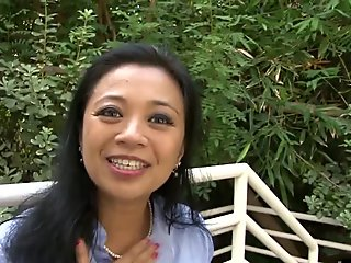 Asian mature is fucked in lingerie